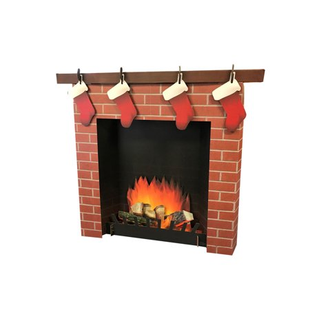 3D Fireplace Cardboard Stand-Up, 3ft](Vintage Cardboard Fireplace)