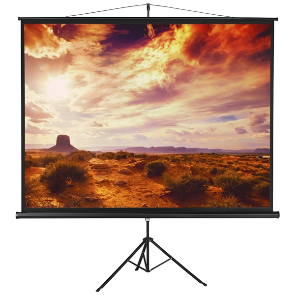 "100/"" 4:3 Projector Screen Portable Indoor Outdoor Projection with Stand Tripod"