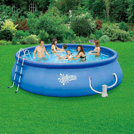 Summer escapes 15 39 x 42 quick set swimming pool - Inflatable quick set swimming pool ...
