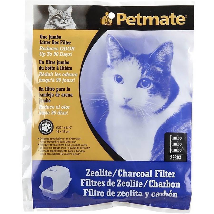 Petmate Zeolite Basic Covered Cat Litter Box Filter, Jumbo