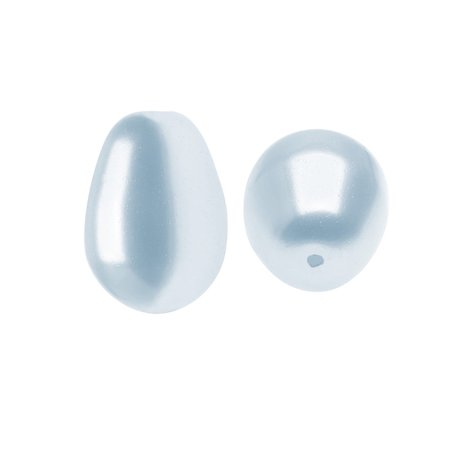Pear Shaped Crystal - Swarovski Crystal, #5821 Pear Shaped Faux Pearl Beads 11mm, 4 Pieces, Light Blue