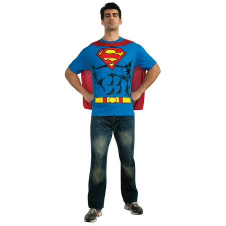 Superman Adult Halloween Costume L - Low Budget Man Halloween