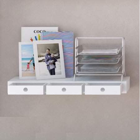 Wall35 Floating Wall Mount Shelf With 3 Drawers And Ships