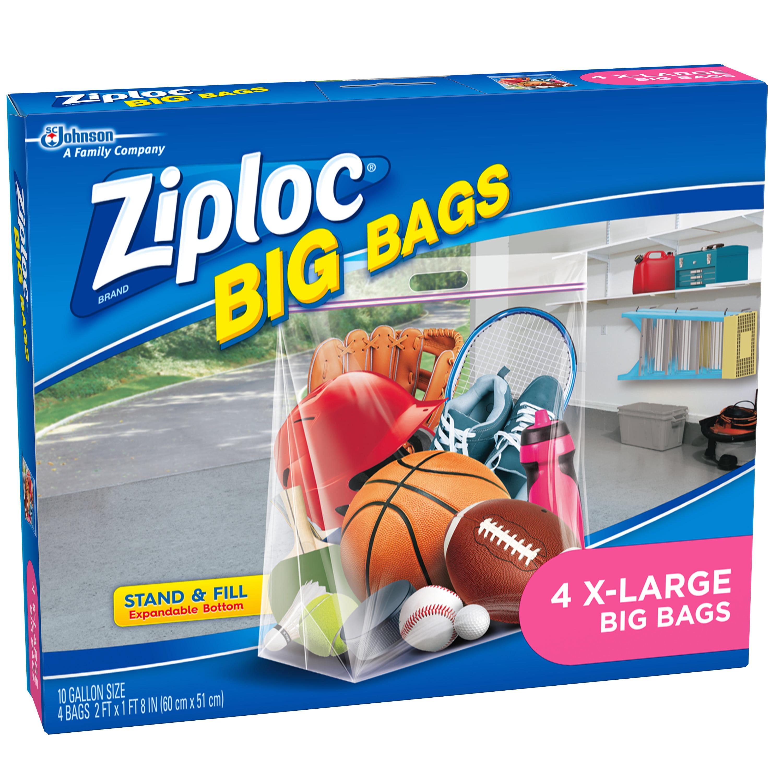 Ziploc Brand Big Bags Xl 4 Count Walmart Com Walmart Com