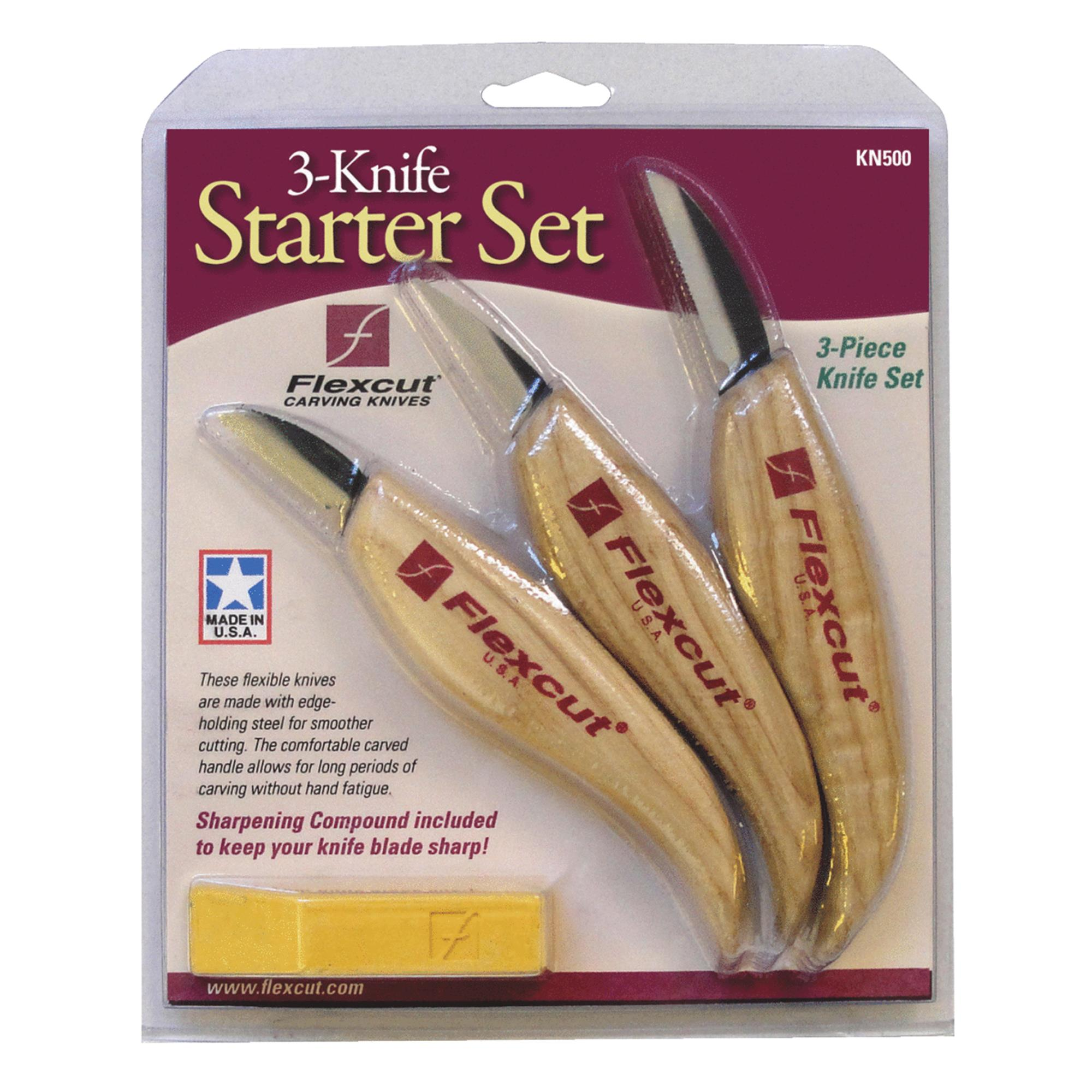 3-Piece Wood Carving Knife Set