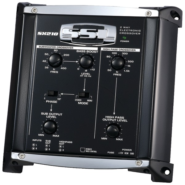 "SOUNDSTORM SX210 Electronic Crossover with Remote Subwoofer Level Control (2 Way, 7.25""D)"