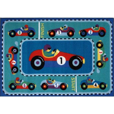 Olive Kids Vroom Race Car (Fun Rugs Olive Kids Vroom 19
