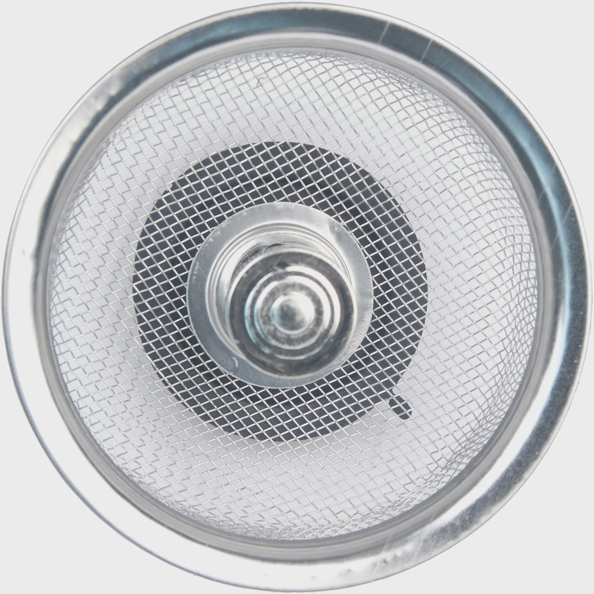 superior Kitchen Sink Stopper #9: Peerless Satin Nickel Mesh Sink Strainer with Stopper