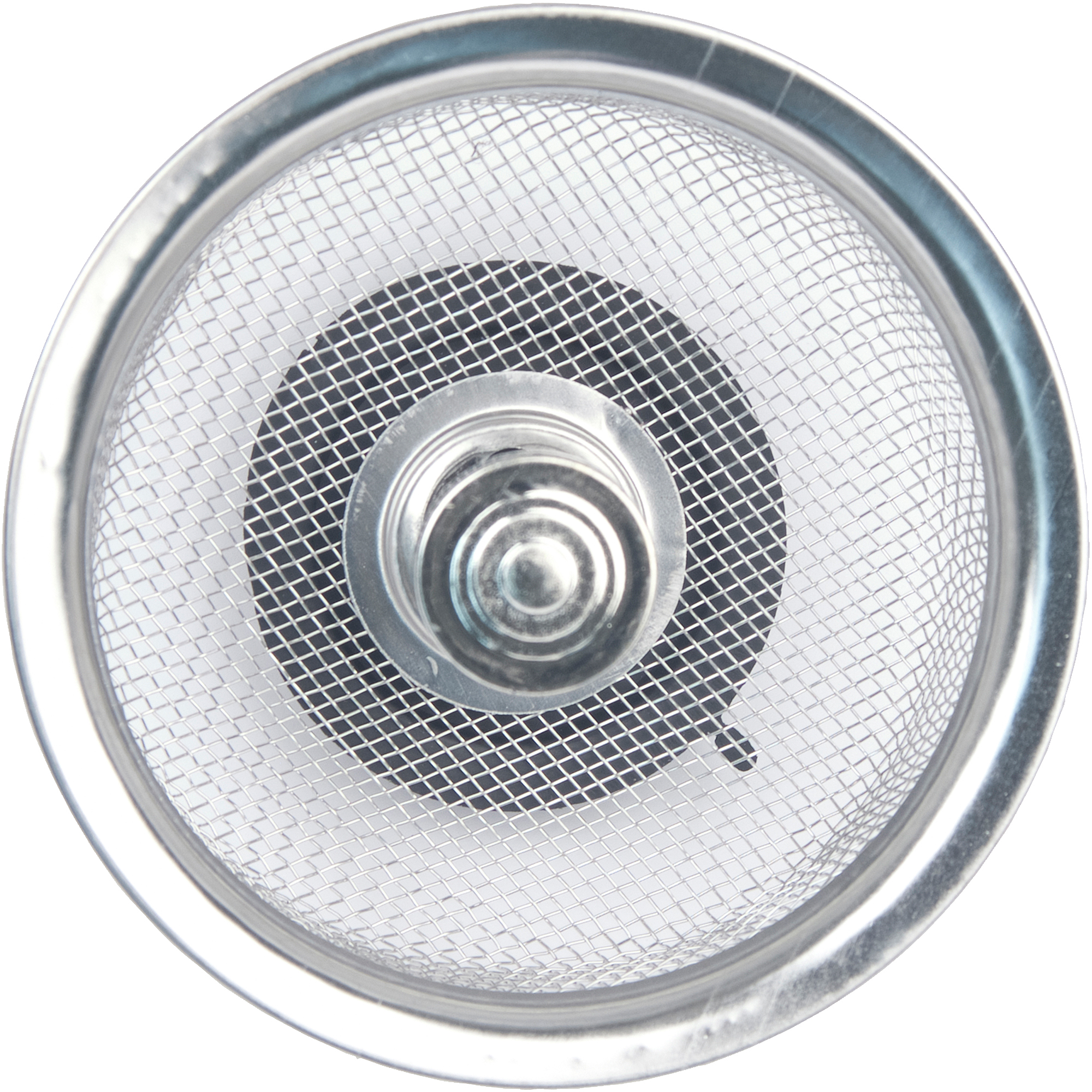 Peerless Satin Nickel Mesh Sink Strainer with Stopper