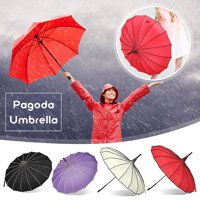 Creative Vintage Pagoda Parasol Bridal Wedding Party Umbrella Male Female Auto Big Windproof Umbrellas Sun Rain UV Rain Umbrella