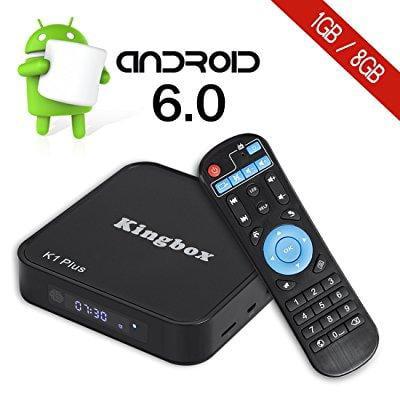 Kingbox K1 Plus Android 6 0 TV Box 4K/S905X/64Bit/1+8GB/2 4G Wifi/100M  ANDROID TV BOX