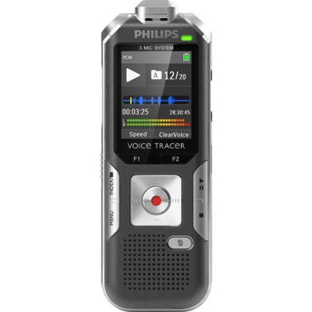 """Philips Voice Tracer Digital Recorder Lecture And Interview Recording 4 Gb Flash Memory 1.8"""" Lcd Portable... by"""