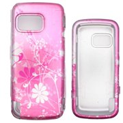 Soul Wireless NK4230SC055 Nokia 5230 Nuron Pink Flower Snap On Protective Case Cover