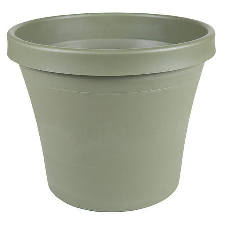 10 Inch TerraPot Planter, Thyme Green, Open diameter of TerraPot is 10.63 inches By Fiskars (Fiskars Plate)