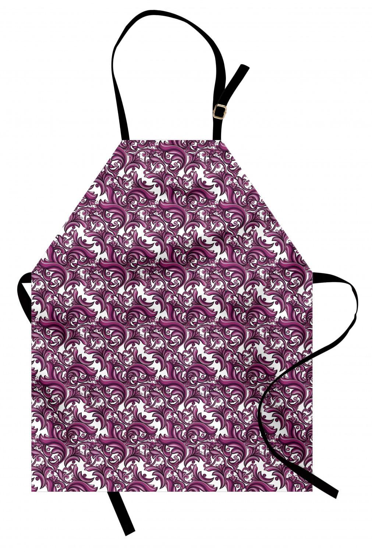 Purple Floral Vintage Apron