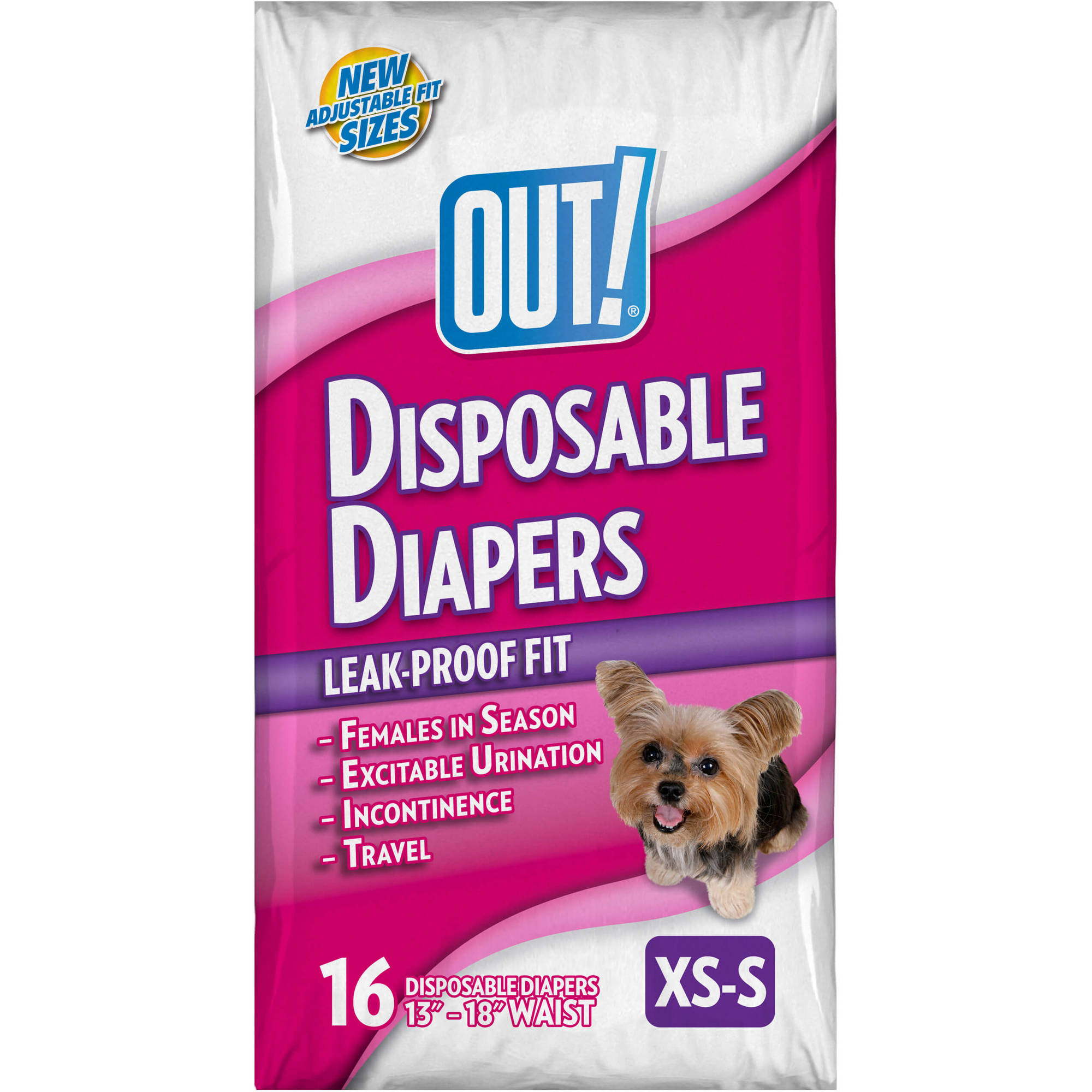 OUT! Disposable Diapers, Size XS/S