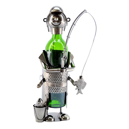 Wine Bodies Fisherman with Pale 1 Bottle Tabletop Wine Rack