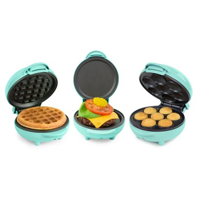 Nostalgia MWFGRDCK5TL My Mini Bundle with Mini Waffle Maker, Mini Griddle, and Mini Cupcake Maker