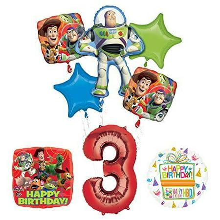 Toy Story 3rd Birthday Party Supplies and Balloon Bouquet Decorations - Balloons And Parties