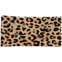 Betsey Johnson Leopard Print Eyewear Case One Size Brown multi