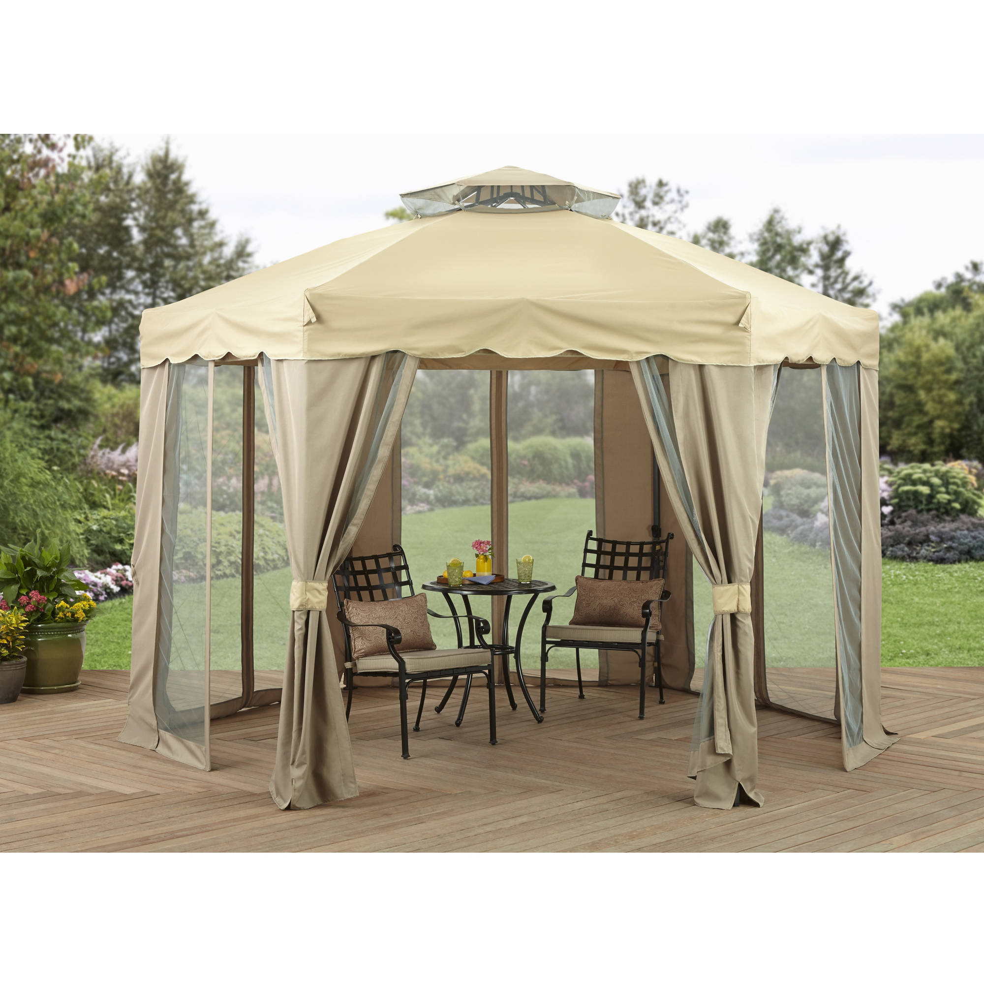 Better Homes and Gardens 12u0027 x 12u0027 Outdoor Gilded Grove Gazebo - Walmart.com  sc 1 st  Walmart & Better Homes and Gardens 12u0027 x 12u0027 Outdoor Gilded Grove Gazebo ...