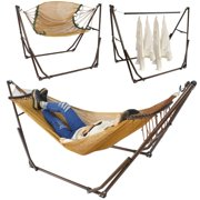 3in1 Portable Folding Hammock with Stand For Outdoor Camping Hiking Hanger Use