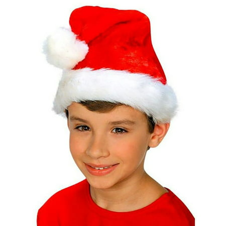 Plush Kid's Santa Hat - Santa Hats Bulk