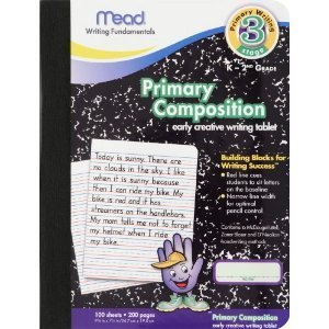 12 Pack-Of Mead Primary Composition Book, Ruled, 100 Pages (09902)