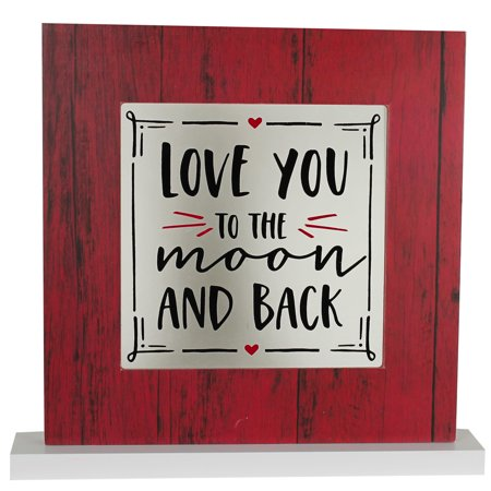 VALENTINE LOVE YOU TO MOON AND BACK TABLETOP DECOR FRAME, 8.5 X 8 INCH - Valentines Day Photo Frames
