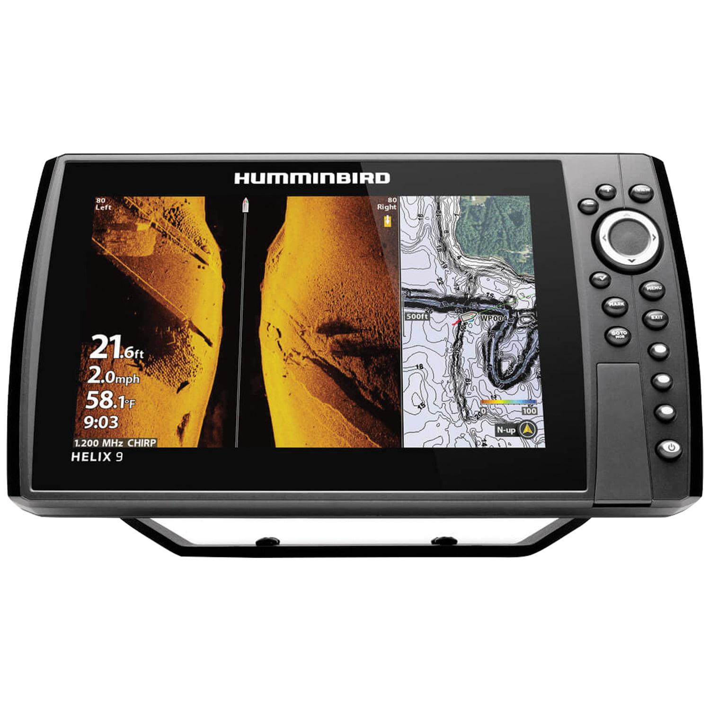 "Humminbird 410860-1 HELIX 9 CHIRP Sonar G3N Dual Spectrum Combo Fishfinder/GPS/Chartplotter with MEGA Down & Side Imaging + & 9"" Display"