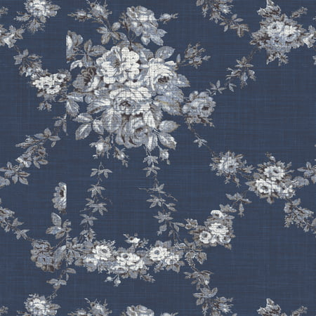 Waverly Inspirations Navy 100% Cotton Duck Fabric Quilt Crafts, per Yard