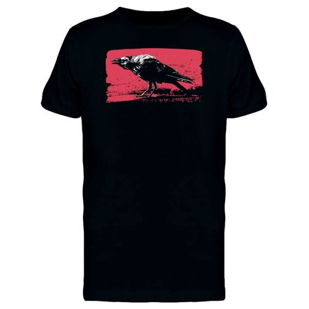 Black Raven In Grunge Art Tee Men