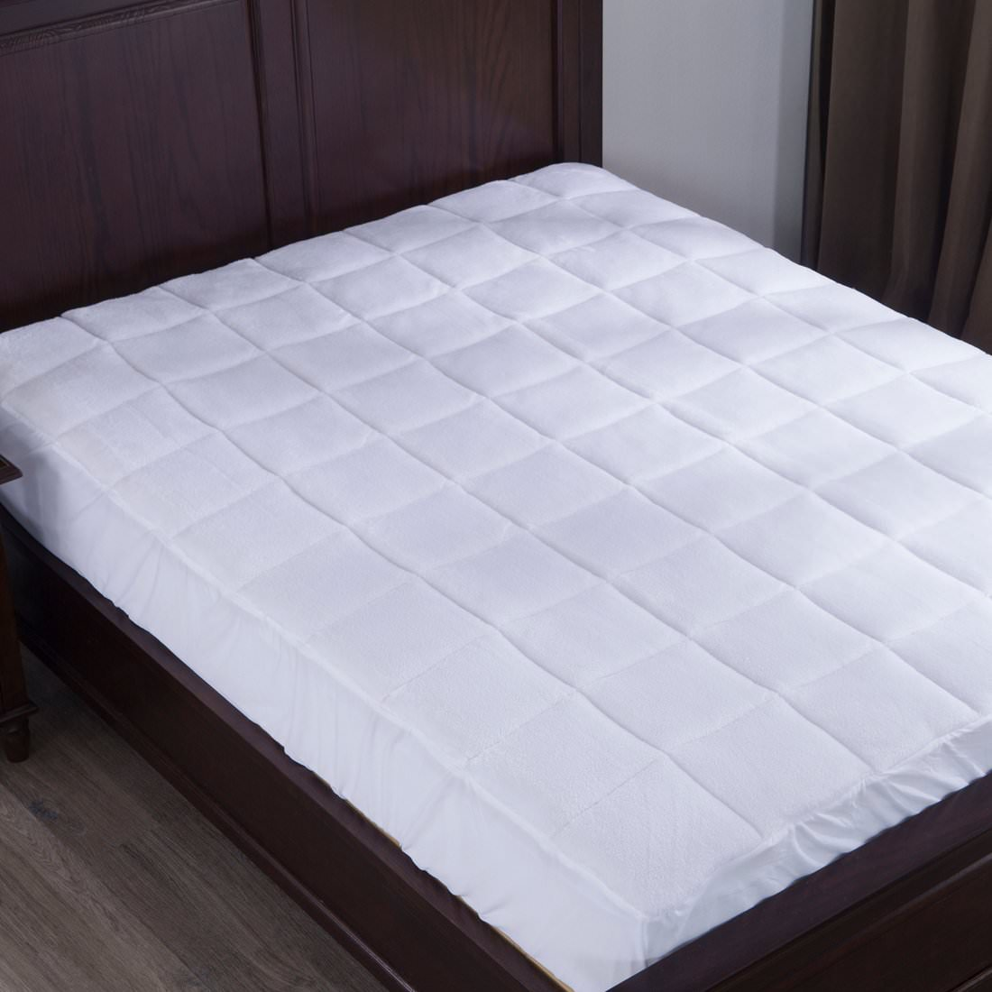 Puredown Down Alternative Mattress Pad/Topper, Plush Top, Queen size
