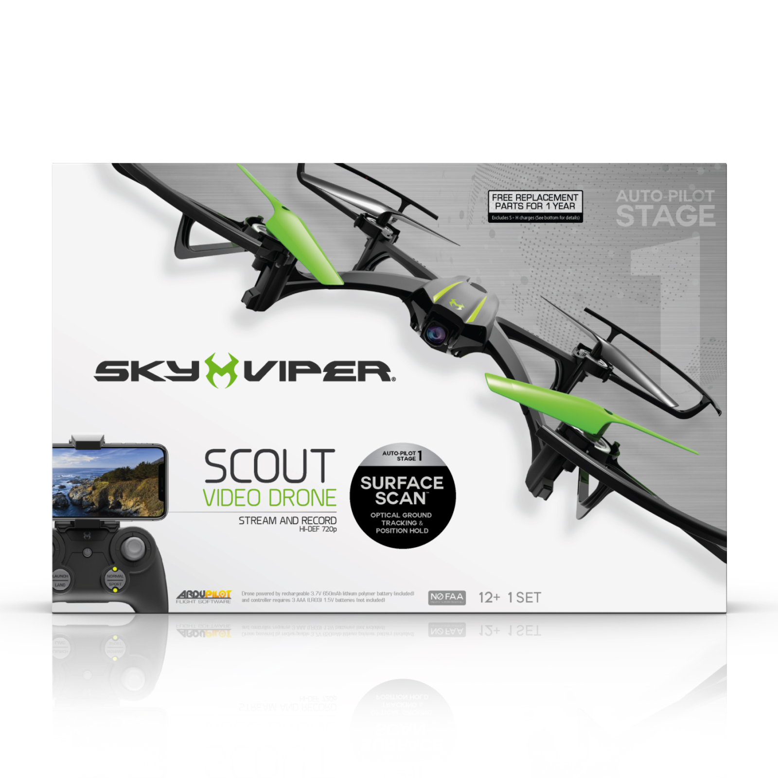 Sky viper scout streaming drone with surface scan