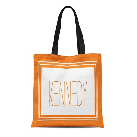 ASHLEIGH Canvas Tote Bag Initial Burnt Orange Custom Monogram Name Family Wedding Pattern Reusable Handbag Shoulder Grocery Shopping Bags ()