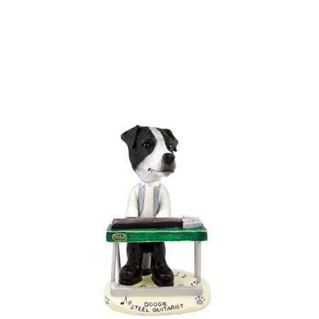 Jack Russell Terrier Black&White w/Smooth Coat Steel Guitarist Doogie