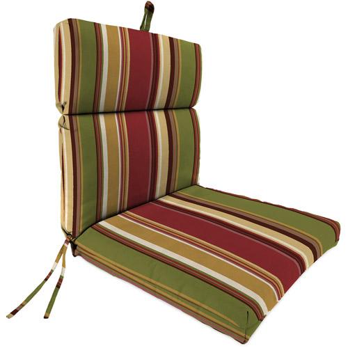 Jordan Manufacturing Outdoor Patio Replacement Chair Cushion, Westport Henna Stripe by Jordan Manufacturing