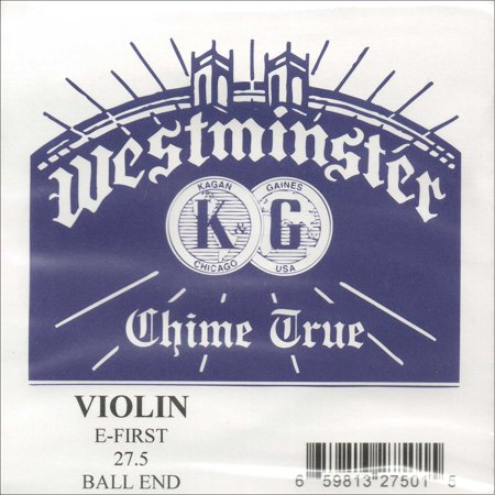 Westminster 4/4 Violin E String - Thick Gauge #27.5 - Plain Steel - Ball