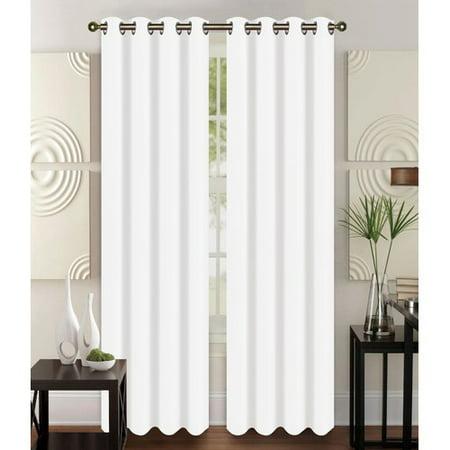 Glory Home Design Christina Solid Semi-Sheer Grommet Curtain Panels (Set of 2)