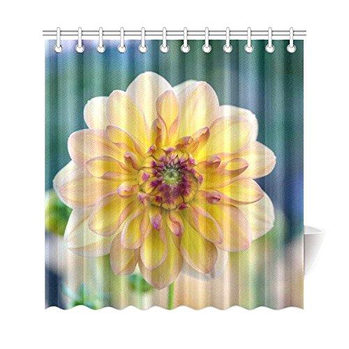 GCKG Big Blooming Flower Shower Curtain Dahlia Spring Blossoms
