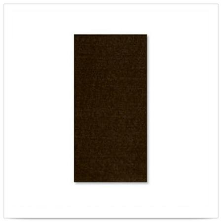 15 1/2 x 15 1/2 FashnPoint Chocolate Decorator Dinner Napkin Ultra Ply 1/8 Fold/Case of 800