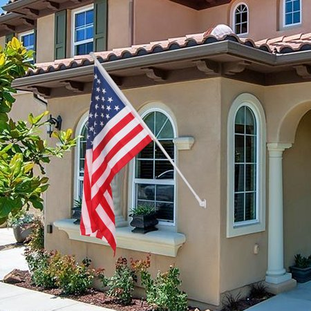 ZENY 6ft Flag Pole Tangle Free Spinning Flagpole Residential w/ Free US - American Flag Kit