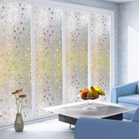 """24""""x47"""" 3D Privacy Window Films Sticker Non Adhesive Static Cling Reusable Glass Film for Home OFFICE, Reusable Film"""