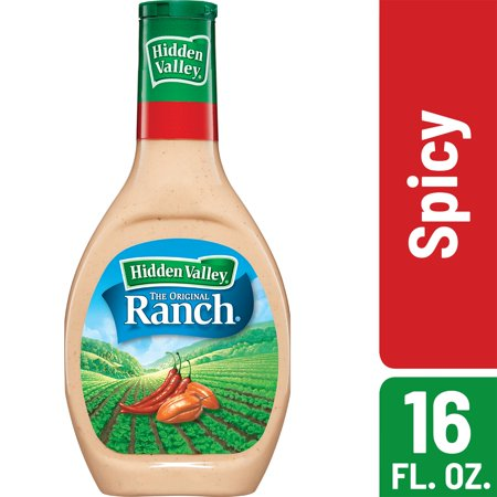 (3 Pack) Hidden Valley Spicy Ranch Salad Dressing & Topping, Gluten Free - 16 oz