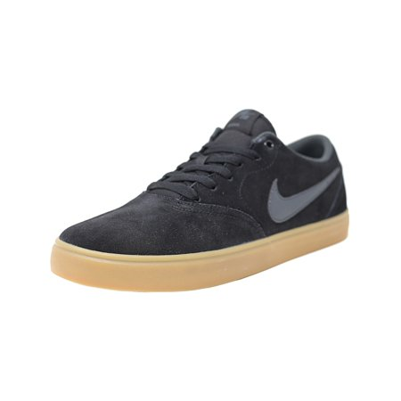 fb4719559743 Nike - Nike Sb Check Solar Black   Anthracite Low Top Canvas Skateboarding  Shoe - 13.5M 12M - Walmart.com