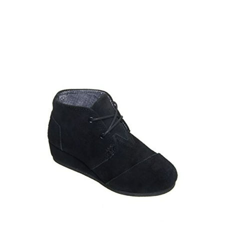 4c8e83e549d TOMS - TOMS Kids Unisex Desert Wedge Bootie (Little Kid Big Kid) Black Suede  Boot 1 Little Kid M - Walmart.com