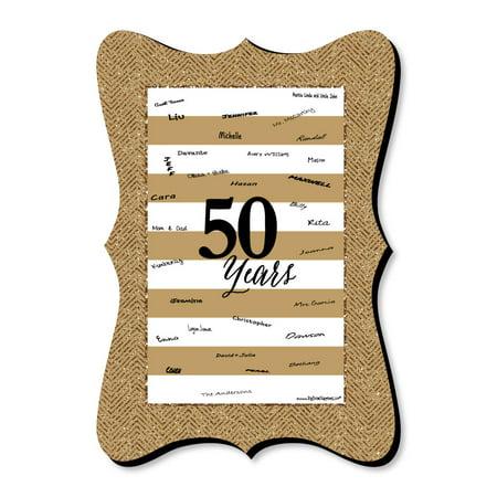We Still Do - 50th Wedding Anniversary - Unique Alternative Guest Book - Anniversary Party Signature Mat