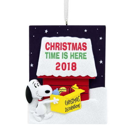 Hallmark Peanuts Snoopy With Dog House 2018 Christmas OrnamentâWalmart Exclusive