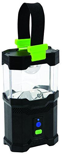 Performance Tool 424 Black Green Camping Lantern with Bluetooth Wireless Speaker by Perform Tool