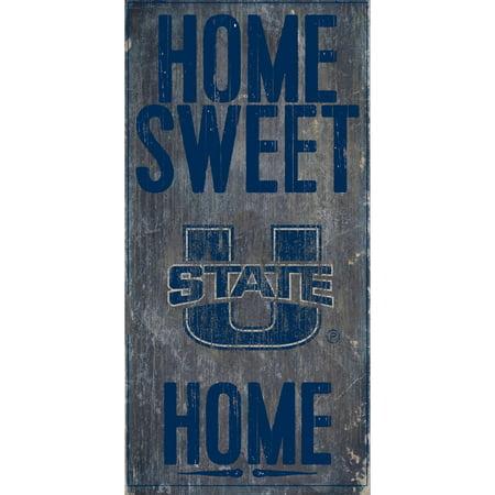 Utah State Aggies 6'' x 12'' Home Sweet Home Sign - No Size ()